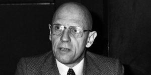 Portrait of French philosopher Michel Foucault taken on December 16, 1981 at the radio broadcast studio Europe 1 in Paris, France. (AP Photo/Alexis Duclos)/APHSL/AP8112160125_1/1309051648