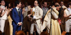 music-director-alex-lacamoire-and-actor-composer-lin-manuel-miranda-and-cast-of-hamilton-celebrat