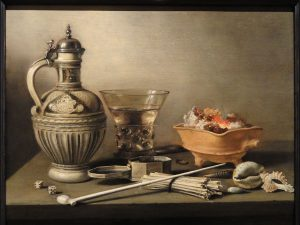1280px-Still_Life_with_a_Stoneware_Jug,_Berkemeyer_and_Smoking_Utensils,_Pieter_Claesz_-_Indianapolis_Museum_of_Art_-_DSC00700
